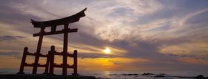 Shosanbetsu, Hokkaido - Shosanbetsu village wooden torii