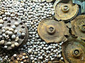 Shrapnel from WWI, at Flanders Fields Museum, Ypres 01.jpg