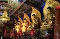 Shrine to the Five Tathagathas (五方佛 Wǔfāngfó) or Five Wisdom Buddhas (五智如来 Wǔzhì Rúlái), in Bixia Temple (碧霞寺 or 碧霞寺) in Mount Wutai, Shanxi, China.jpg