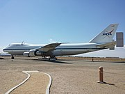 Shuttle Carrier Aircraft N911NA on display in Palmdale, California in June 2015