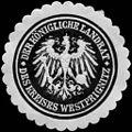 Siegelmarke Der Königliche Landrat des Kreises Westprignitz W0233662.jpg
