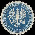 Siegelmarke Der K. Landrat des Kreises Saarburg Reg. Bezirk Trier W0385443.jpg