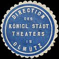 Siegelmarke Direction des Königlich Städtischen Theaters in Olmütz W0245630.jpg