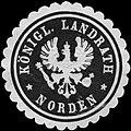 Siegelmarke Königlicher Landrath - Norden W0233617.jpg