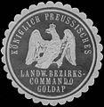 Siegelmarke K.Pr. Landwehr Bezirkscommando Goldap W0344028.jpg