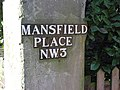 Sign for Mansfield Place, NW3 - geograph.org.uk - 1137015.jpg