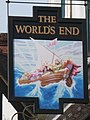 Sign for The World's End, Camden High Street - Camden Road, NW1 - geograph.org.uk - 1404355.jpg
