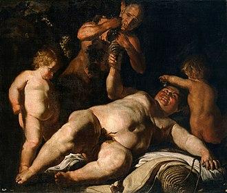 Cesare Fracanzano - Drunken Silenus, Museo del Prado, c. 1630-1635.