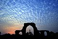 Silhouette of Iron Pillar against the beautiful sky..JPG