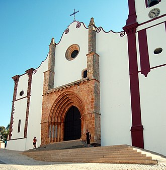 Silves Cathedral - Gothic main portal of Silves Cathedral.