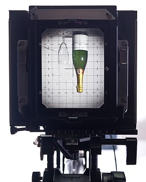 View camera - Viewing through a Sinar F camera
