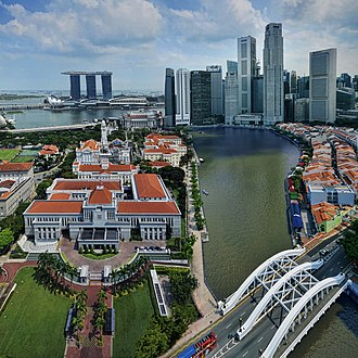 Singapore River - The lower part of the Singapore River flowing through Singapore's central business district