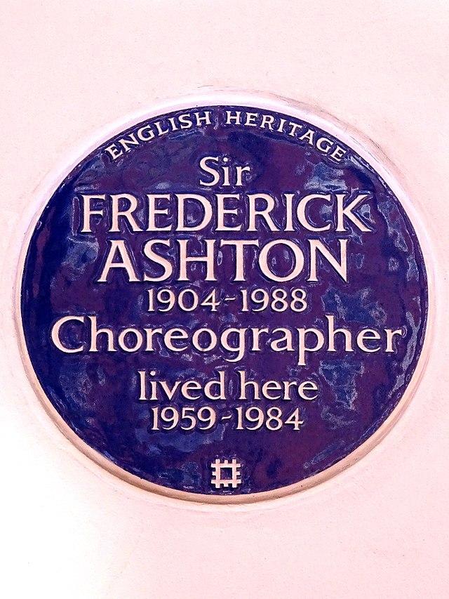 Photo of Frederick Ashton blue plaque