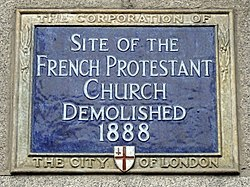 Site of the french protestant church demolished 1888