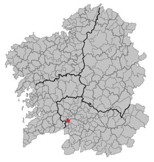 A Arnoia - Image: Situacion A Arnoia
