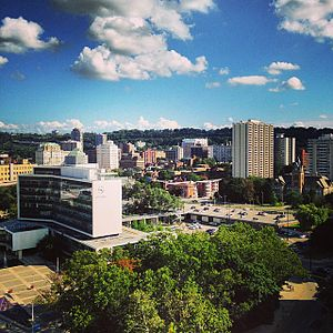 Skyline of downtown Hamilton, Ontario
