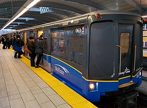 "SkyTrain rolling stock - Repainted Mark I in new ""Sweep-R"" livery"