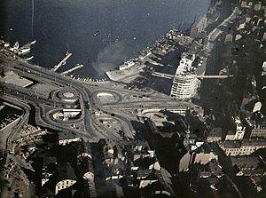 Slussenområdet - Slussen in 1936