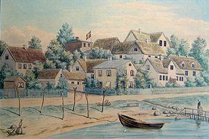 Snekkersten - Snekkersten in about 1880