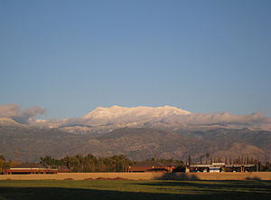 San Jacinto Mountains - The San Jacinto Mountains seen from Hemet