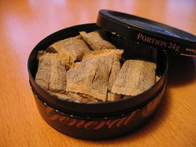 Portioned snus of the Swedish label General.