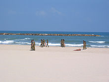 Idf Solrs Cleaning The Beaches At Tel Aviv Which Have Scored Highly In Environmental Tests