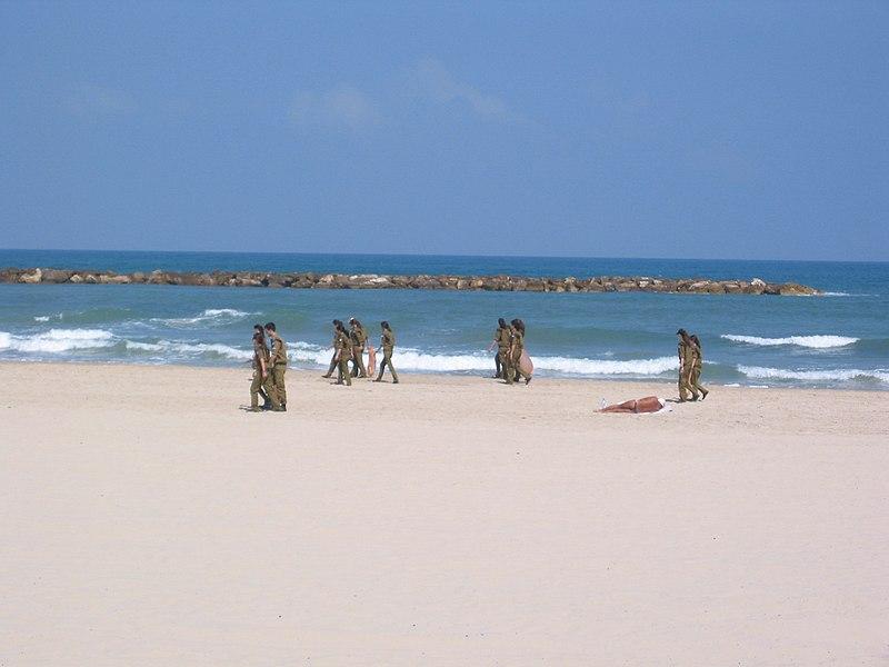 Soldiers cleaning beach.jpg