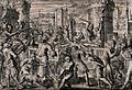 Soldiers dismembering, torturing and killing civilians outsi Wellcome V0041846.jpg