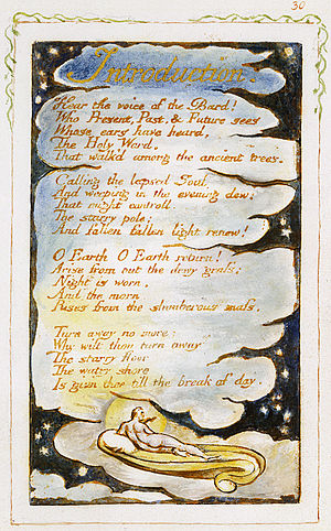 Introduction (Blake, 1794) - Image: Songs of Innocence and of Experience, copy Y, 1825 (Metropolitan Museum of Art) SE Intro