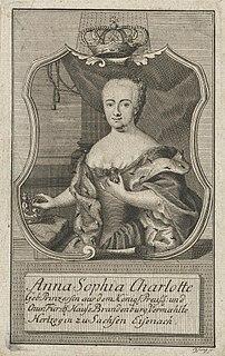 Princess Sophie Charlotte of Brandenburg-Bayreuth Duchess consort of Saxe-Weimar