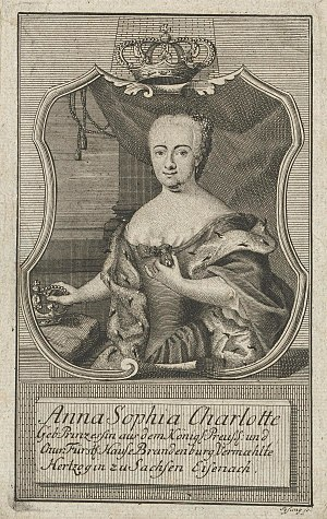 Sophie Charlotte of Brandenburg-Bayreuth - Image: Sophia Charlotte of Brandenburg Bayreuth, duchess of Saxe Eisenach and Saxe Weimar