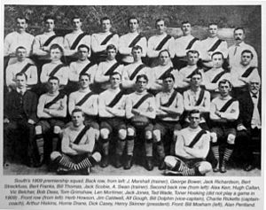 1909 Championship of Australia - The South Melbourne FC, champions.