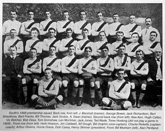 1909 Championship of Australia - The South Melbourne FC, champions.