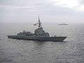 Spanish frigate Alvaro De Bazan (F101) underway in the Atlantic Ocean on 8 October 2017 (171008-N-IC246-0301).JPG