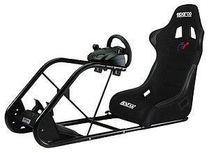 GT Racing Cockpit - Image: Sparco racing cockpit Pro FIGHTER Model
