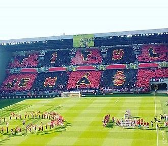 FC Spartak Trnava - Spartak fans in match against AS Trenčín, on 19 May 2018