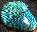 Spectrolite (gem-quality labradorite plagioclase feldspar).jpg