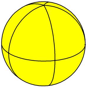 Pentagonal bipyramid - Spherical pentagonal bipyramid