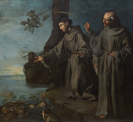 Saint Anthony Preaching to the Fishes, c. 1630 St. Anthony Preaching to the Fishes (c. 1630) - attributed to Francisco de Herrera the Elder (Detroit Institute of Arts).png
