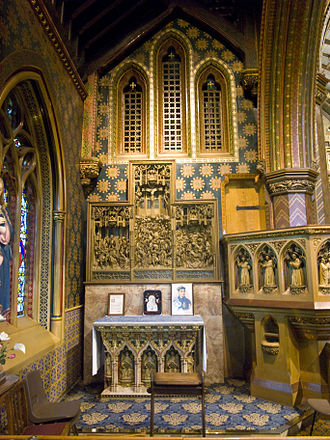 Augustus Pugin - The northeast chapel of St. Giles Roman Catholic Church, Cheadle, Staffordshire, England, designed by Pugin