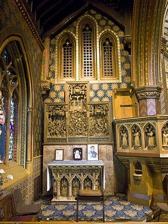 Cheadle, Staffordshire - N.E. chapel, St Giles' Catholic Church