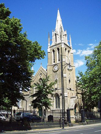 Stratford, London - St John's Church in Stratford Broadway