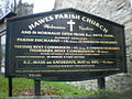 St Margaret's Church, Hawes, Sign - geograph.org.uk - 1599174.jpg