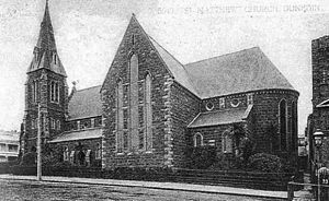St. Matthew's Church, Dunedin - St. Matthews church from a late 19th-century postcard