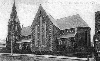 St. Matthew's Church, Dunedin - St. Matthews church from a late 19th-century postcard