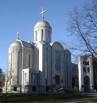 Christianity in the United States - St. Nicholas Cathedral in Washington, D.C., is the primary cathedral of the Orthodox Church in America.