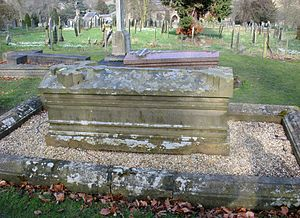 William Cavendish, 6th Duke of Devonshire - St Peter's Churchyard, Edensor - grave of William Cavendish, 6th Duke of Devonshire KG, PC (1790–1858)