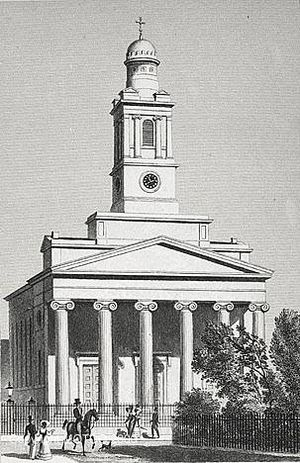 St Peter's Church, Eaton Square - St Peter's in 1827