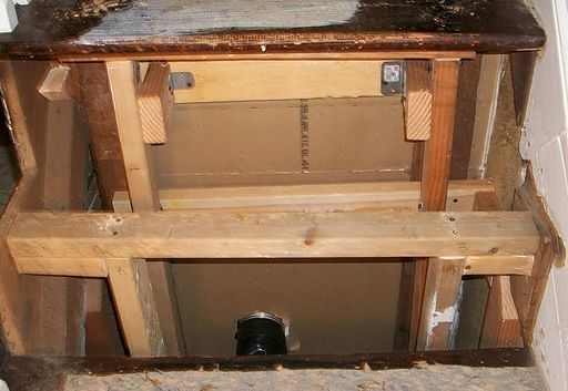 Stair reinforcing handyman project