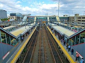 Stamford Transportation Center - Stamford Transportation Center platforms and tracks in 2018